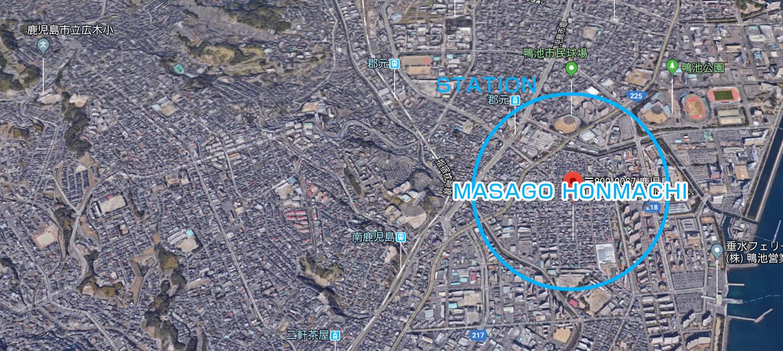 街なか邸宅PJ真砂本町地図